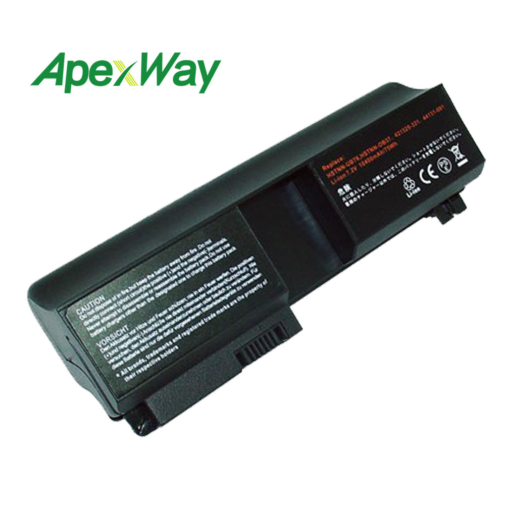 ApexWay 8 Cells 14.4V Laptop Battery for Hp Pavilion tx1000 tx1100 tx1200 tx1300 tx2000 tx2100 tx2600 <font><b>tx2500</b></font> RQ204AA RQ203AA image