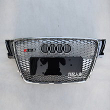 For Audi A5 RS5 Style silver Front Bumper mesh Grill Grille Car styling 2008~2011