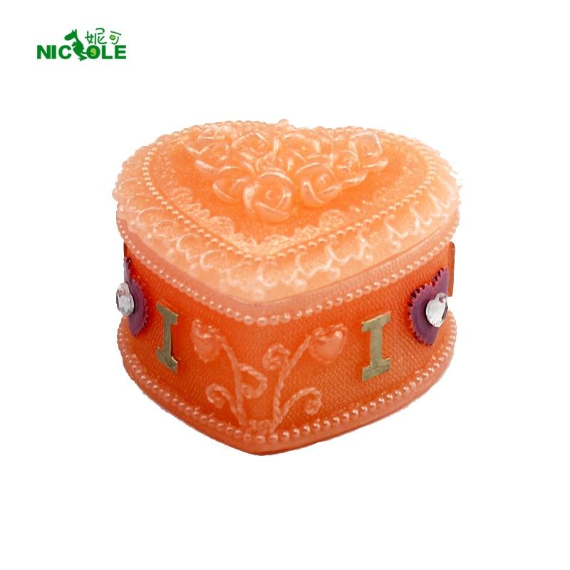 ̀ •́ Nicole corazón caja silicona vela molde DIY hecho a mano ...