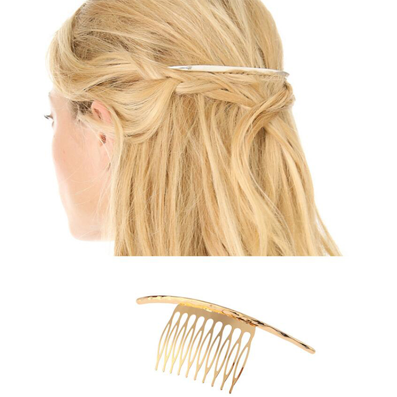 Shuangshuo Hair-Pins Comb-Pin Hairclips-Hair-Comb Female Metal Women for Hair-Accessories