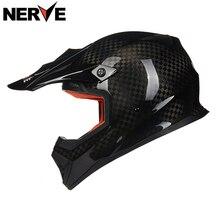 NERVE Motorcycle Motorbike off road helmet, 12K caron fiber motorbike helmet, Motocross helm protective gear ECE scooter helmet