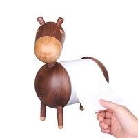 Living Room Kitchen Paper Towel Holder Little Donkey Home Cartoon Crafts Bathroom Rack Ornaments Toilet Roll Holder Wooden