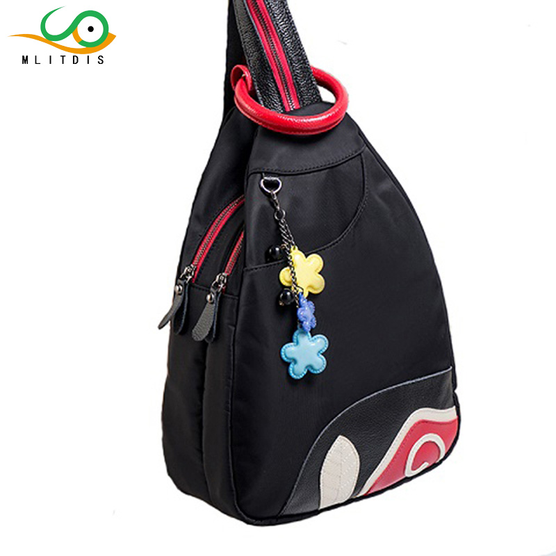 MLITDIS Multifunctional Women Backpack Double zipper Shoulder Bag Women s Backpack Vintage SchoolBag For Teenage Girl
