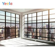 Yeele Window Frame City Buildings Shine Room Interior Photography Backgrounds Customized Photographic Backdrops for Photo Studio