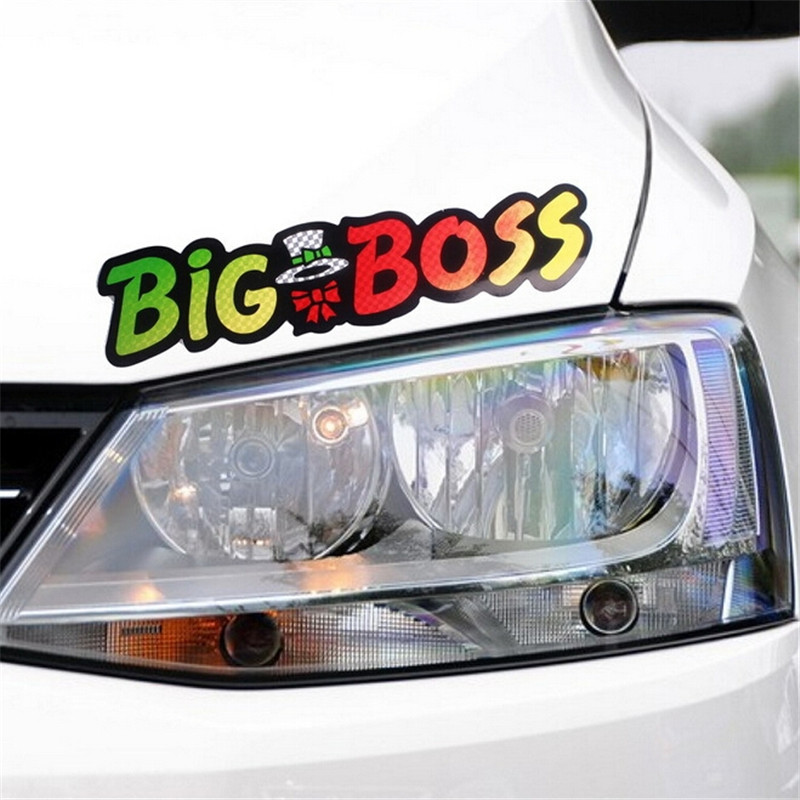High Quality Laser Letter Big Boss Car Sticker Cover Scratches