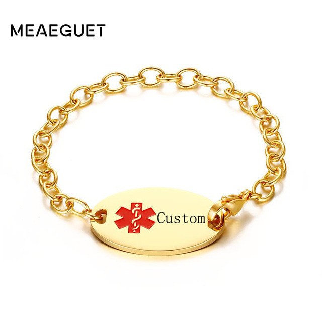 bracelet and custom engraved id il sg c etsy jewelry alert bracelets personalized en medical