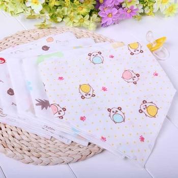 Best Baby 6PCS Cartoon Newborn Baby Bibs Waterproof Adjustable Breathable Cotton Feeding Baby Saliva Towel For 0-24 Months