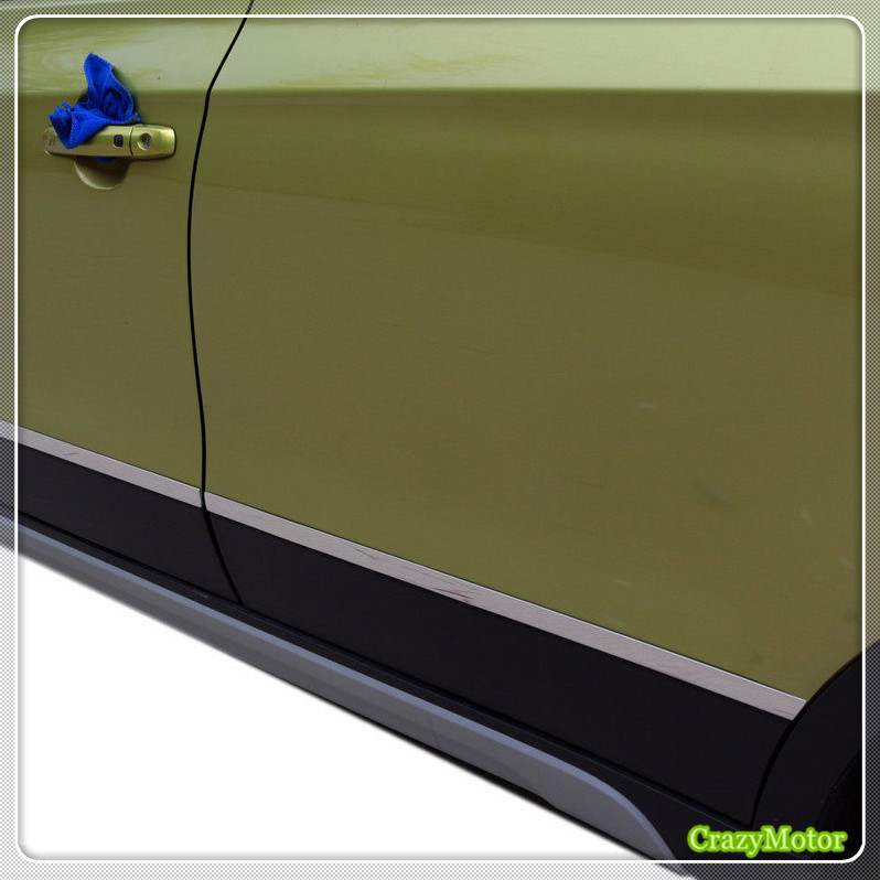 For Suzuki sx4 s-cross 2014-2018 Stainless steel Car side door body molding streamer strip cover trim sticker decoration цены
