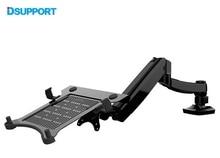 Free Shipping D5F Desktop Full Motion Gas Spring Dual use 10-15.6′ Laptop Holder+ 10-27 inch Monitor Holder Arm Bracket