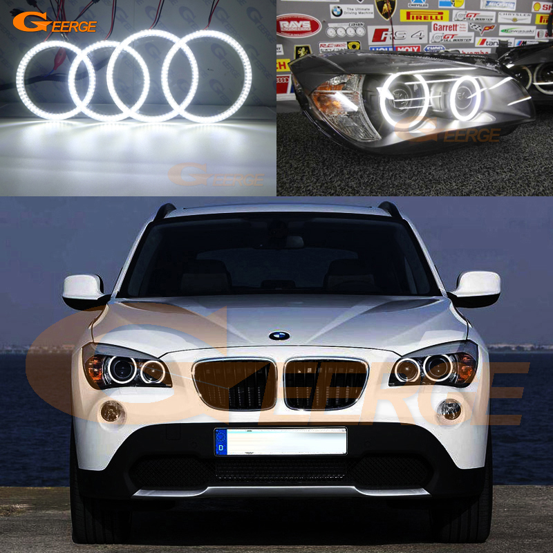 For BMW X1 E84 2010 2011 2012 2013 2014 2015 Xenon headlight Excellent DRL Ultra bright illumination smd led Angel Eyes kit DRL for bmw e60 e61 lci 525i 528i 530i 535i 545i 550i m5 xenon headlight excellent drl ultra bright smd led angel eyes kit