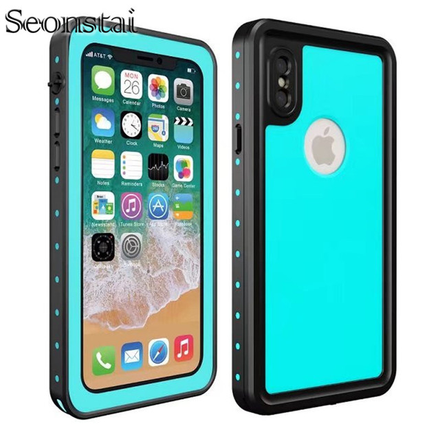 innovative design 4148f 77560 US $19.79 |Seonstai for iPhone X Waterproof Case for iPhone 10 Swim Proof  Underwater Diving Water Shock Proof Cases Phone Skiing Back Cover-in Fitted  ...