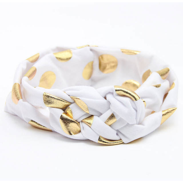 8ee9a968552 Fashion Newborn Cross Polka Dot Knot Headbands Top Knot Kids Headwrap Girls  Turban Tie Knot Headwear