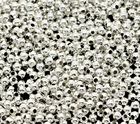 DoreenBeads Silver Plated Smooth Round Spacers Beads For DIY Jewelry Making 2mm,350 pcs