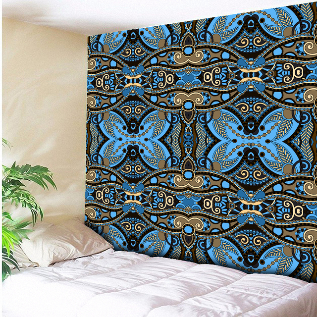 Exceptionnel Euro Home Decor Seamless Geometric Bohemia Wall Hanging Floral Tapestry  Boho Wall Carpet Living Room Blanket