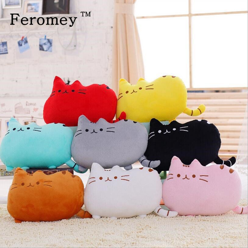 Hot Anime Plush Toy 40cm*30cm Kawaii Pusheen Cat Plush Pillow Cute Totoro Plush Kids Toys