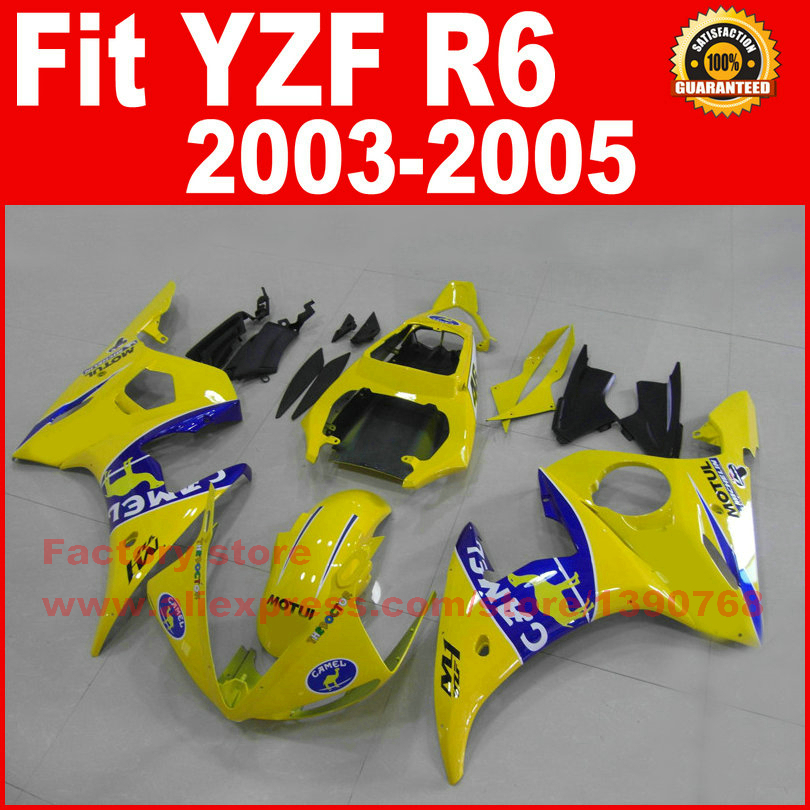 Custom ABS motorcycle fairings kit for YAMAHA R6 2003 2004 2005 YZF R6 03 04 05  yellow fairing kits bodywork part abs plastic speedometer gauge case cover for yamaha yzf r6 yzf r6 2003 2004 2005 tachometer