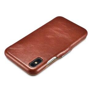 Image 3 - יוקרה אמיתי עור מתכת לוגו מגנטי Flip מקרה עבור iPhone X XS XS MAX XR כיסוי Coque מקורי טלפון סלולרי מקרי אביזרים