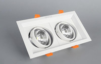 2pcs Super Bright Square Dimmable Led Wa Ll Lamp Downlight COB Ceiling Spot Light 20w Ceiling