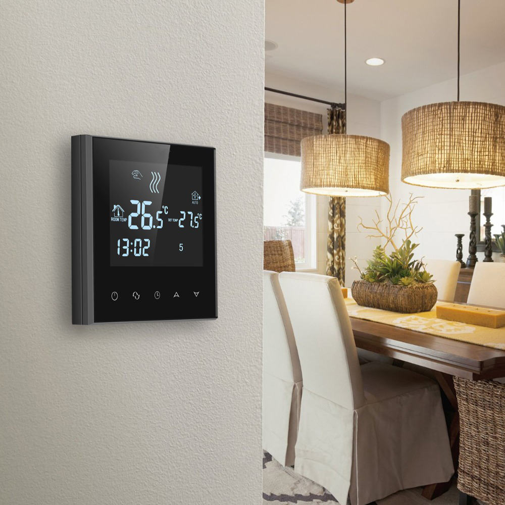 Digital Touch Screen Digital Thermostat Underfloor Heating Thermostat LCD Room Temperature Controller Thermostat With Backlight