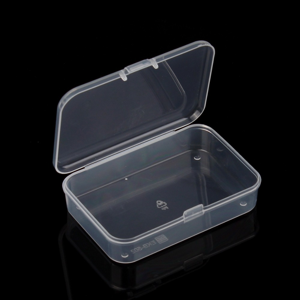 5pcs new small plastic transparent with lid collection for Case container 974
