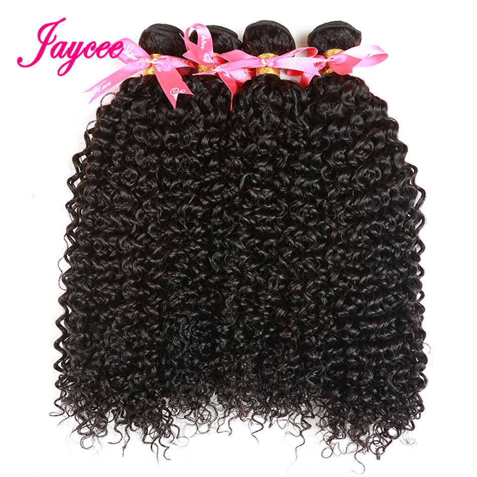 Jaycee Malaysian Hair Weave 4 Bundle Deals Kinky Curly Hair Bundles Of Weave Hair For Women Human Hair Extensions Natural Color