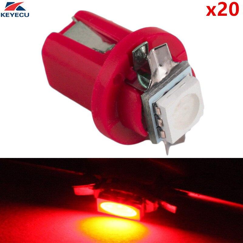 Keyecu 20 Stuks Rood 1157 Bay15d S25 12 V 21/5 W Auto Vervanging Lamp Dubbele Contact Rem Stop Licht Met Dual Filament