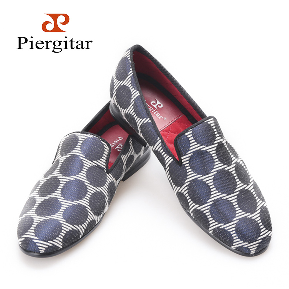 PIERGITAR New Woman fabric Shoes with mixed color and Polka Dot design women flats handmade party;prom and banquet women loafers rakesh kumar tiwari and rajendra prasad ojha conformation and stability of mixed dna triplex
