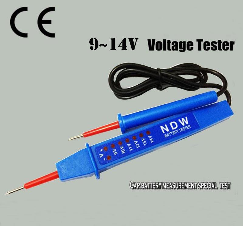 9–14 V automobilinių akumuliatorių testeris