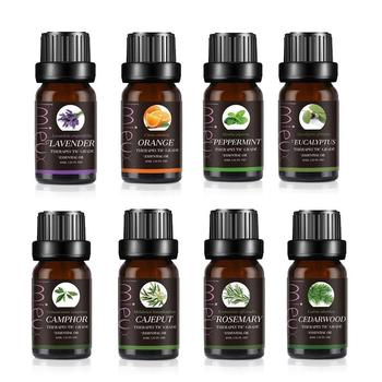 100% Pure Essential Oils For Aromatherapy Diffusers Pure Essential Oils Organic Body Massage Relax Fragrance Oil Skin 10ml