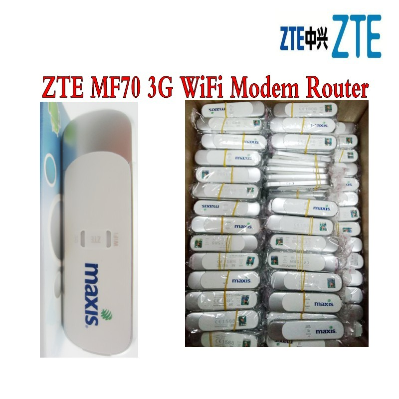 Lot of 100pcs <font><b>ZTE</b></font> <font><b>MF70</b></font> 3G 21Mbps WiFi Modem Router USB Modem 3G WIFI Router,DHL delivery image