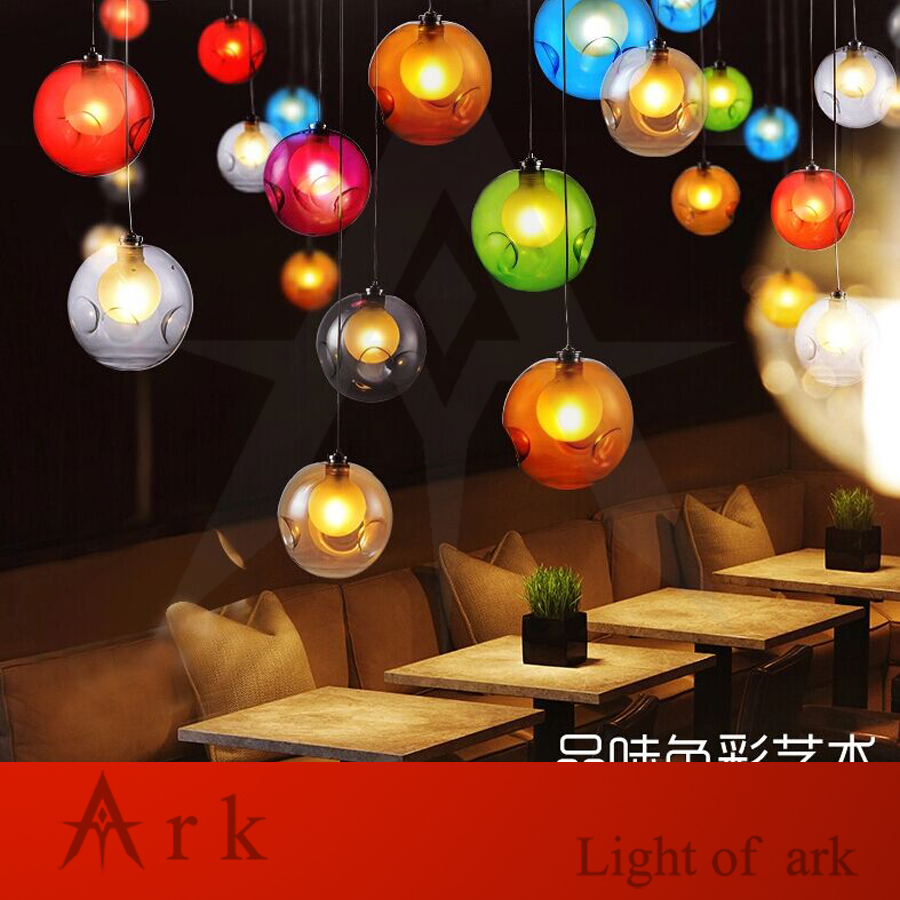 ARK LIGHT LOFT american old furniture nostalgic vintage 1 Bubble Ball LED Pendant for Balcony aisle hallway DINING ROOM