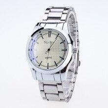 d4ceaa16b8a 2016 mcykcy top de luxo da marca homens de aço inoxidável completa negócios  relógios dos homens relógio de quartzo homens relógi.