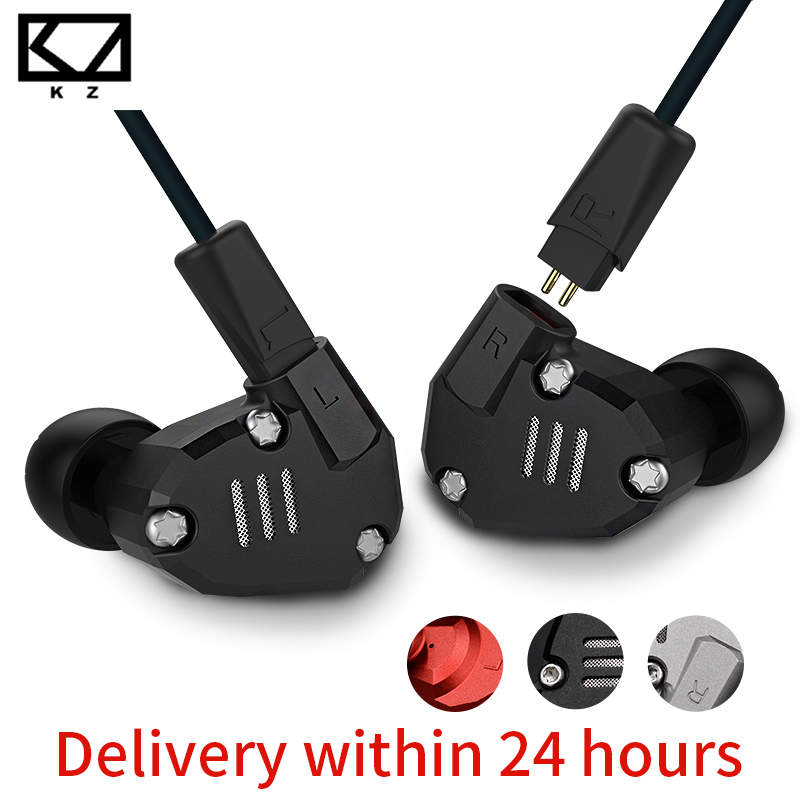 Original KZ ZS6 Eight Driver Earphone Dynamic And Armature In Ear HIFI Stereo Sport Headset Detachable Bluetooth Upgrade Cable kz ates ate atr hd9 copper driver hifi sport headphones in ear earphone for running with microphone game headset