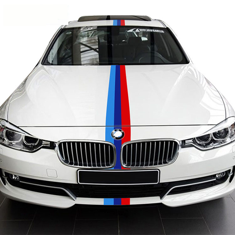 Car Stickers and Decors 3 Color Vinyl Strip Sticker For BMW Car Body Head Door Decal Car
