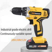 28V Max Electric Screwdriver Cordless Drill Mini Wireless Power Driver DC Lithium Ion Battery 2 Speed 007
