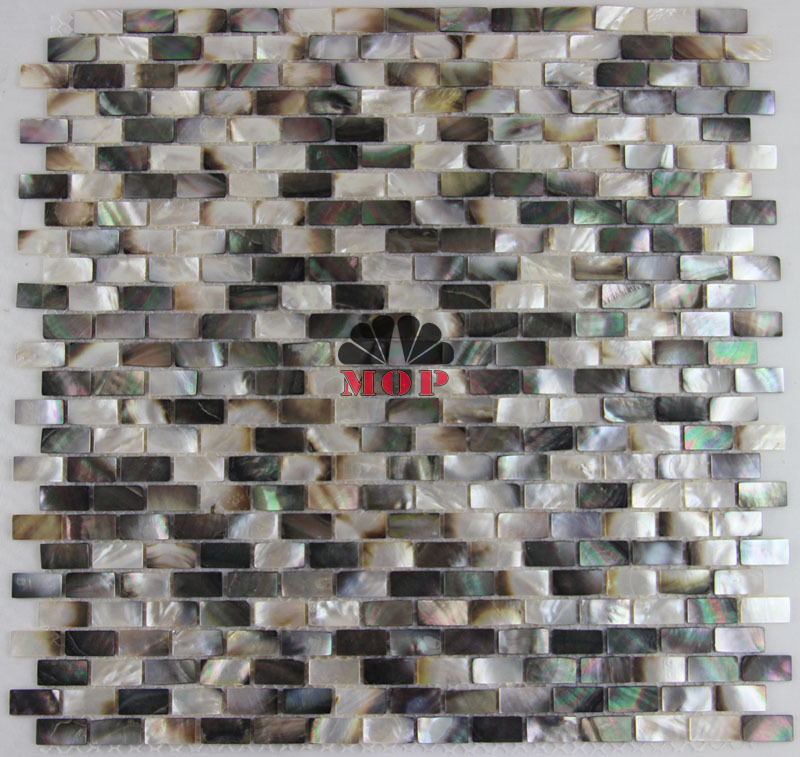 Black lip shell mosaic tile mother of pearl natural color for Tile fashion