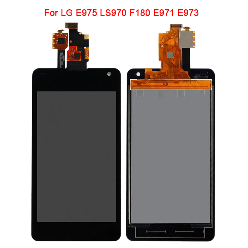 Black For LG Optimus G LS970 F180 E971 E973 E975 LCD Display Touch Screen Digitizer Glass Panel Assembly Replacement Parts+Frame