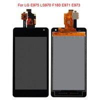 Noir Pour LG Optimus G LS970 F180 E971 E973 E975 LCD Affichage à L'écran Tactile Digitizer Assemblée Panneau de Verre Pièces De Rechange + cadre