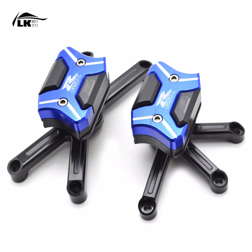 CNC Aluminum Blue  Motorcycle Frame Slider Anti  Crash Protector For Suzuki GSXR 600 GSXR750 K6 K8 2006-2010 2007 2008 2009 motorcycle cnc stator cover slider frame crash protector for kawasaki ninja zx14r 2006 2007 2008 2009 2010 2011 2012 blue