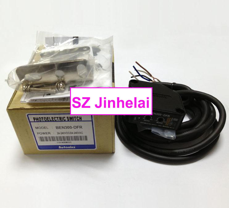 100% New and original  BEN300-DFR  AUTONICS  PHOTOELECTRIC SWITCH new and original e3x da11 s omron optical fiber amplifier photoelectric switch 12 24vdc