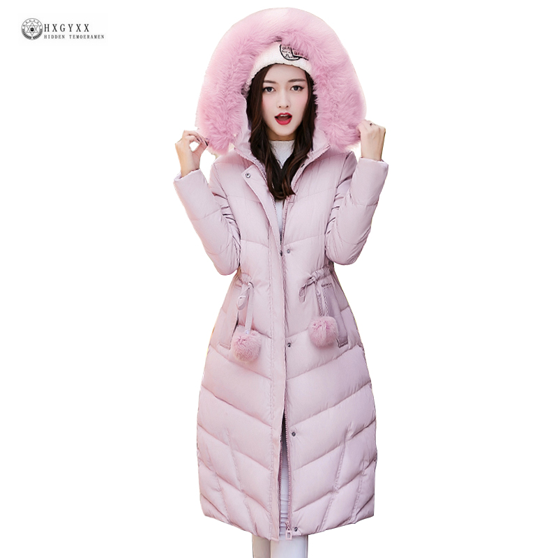 2017 Latest Hot Sell Women Long Cotton Jacket Pure Color Fur Hooded Winter Coat Female Padded Thick Outerwear Warm Parka OK991 x long cotton padded jacket female faux fur hooded thick parka warm winter jacket women solid color wadded coat outerwear tt763
