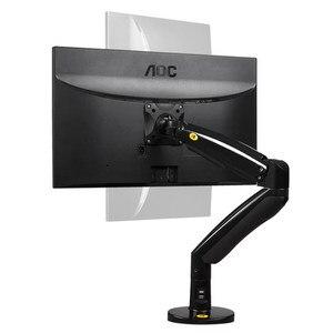 Image 2 - NB F100A ガススプリングアーム 22 35 インチ画面モニターホルダー 360 回転チルト、デスクトップモニターはアーム 2 つの Usb ポート