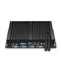 Mini PC Celeron N2830 Dual Core 4x RS232 COM Serial Ports Dual Ethernet 1000M LAN Industrail