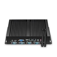 ליבה כפולה מיני מחשב Celeron N2830 4x סידורי RS232 COM יציאות Ethernet הכפול 1000 M LAN מחשב Industrail Windows לינוקס אובונטו