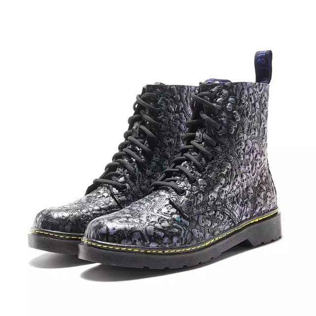 DelivrMens Shoes Genuine Leather Boots 2019 Newest Shanto Blue Martins Boots Shoes Men Casual Fashion Men Shoes Spring Men Boots