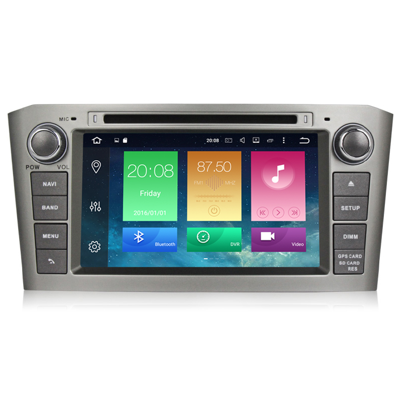 <font><b>Android</b></font> 9.0 Car DVD Stereo Multimedia Headunit Auto Radio GPS Navigation Video Audio For Black <font><b>Toyota</b></font> Avensis <font><b>T25</b></font> 2003-2008 image