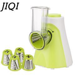 JIQI Многофункциональный Электрический фруктовый, овощной слайсер резак для моркови машинка для чистки картофеля лезвие из нержавеющей
