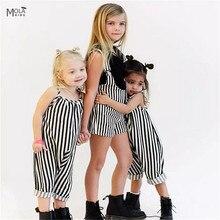 קמעונאות Kikikids בנות מכנסיים תינוקת הרמון פסים Rompers Maka ילדים זעיר תינוקות פעוט כותנה