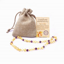 Handmade Natural Ambar Teething Necklace