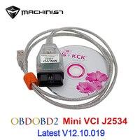 Latest MINI VCI Interface FOR TOYOTA TIS Techstream MINI VCI J2534 OBD2 Diagnostic Cable On Board Diagnostic Car Diagnostic Tool